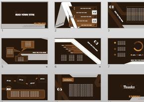 大气巧克力色商务PPT模板
