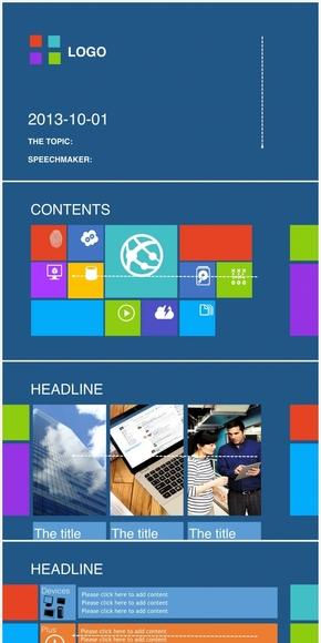 动态WIN8风格商务汇报了keynote模板