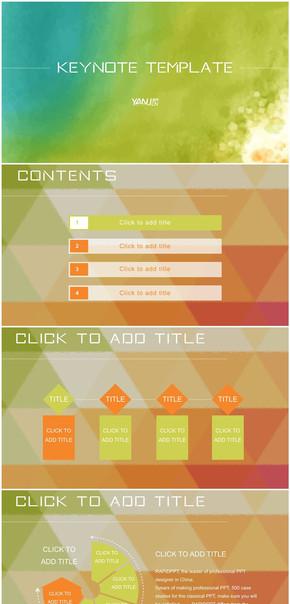 实用大气炫彩商务ios风格keynote模板2