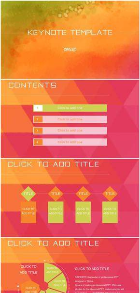 实用大气炫彩商务ios风格keynote模板3