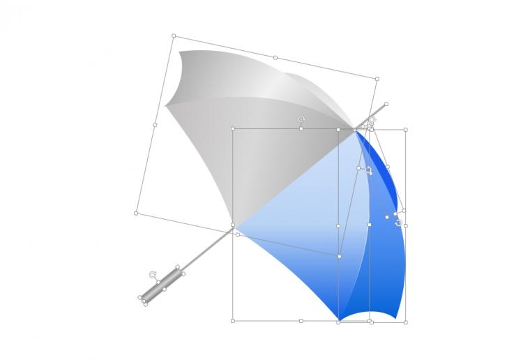 ppt手绘雨伞 - 演界网,中国首家演示设计交易平台