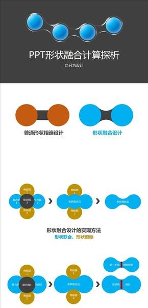 PPT形状融合计算探析
