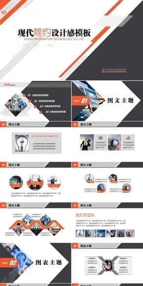 现代简约商务咨询汇报大气设计感动态PPT模板