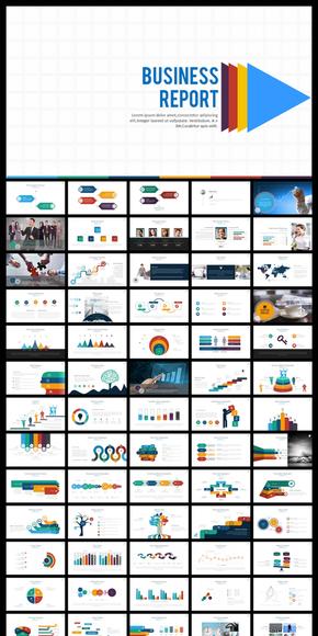 70页多彩商务汇报企业文化PPT模板