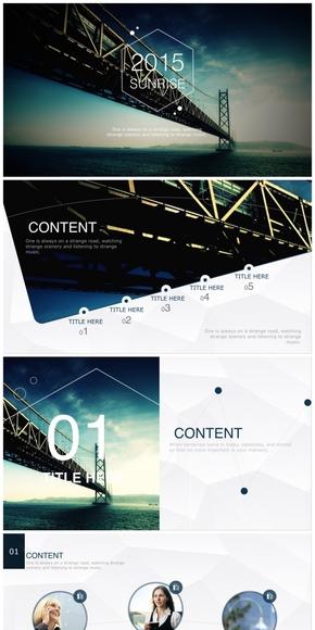 【珞珈】新年计划动感keynote模版(两种配色)-《朝阳》