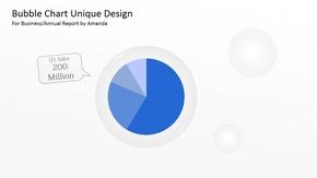 【饼图/环形图】商务PPT蓝色系饼图&环形图 10张