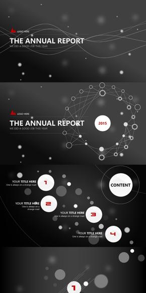 2016年终总结计划工作汇报发布会演示模板-《Circle》-2017商务互联网大气介绍宣传