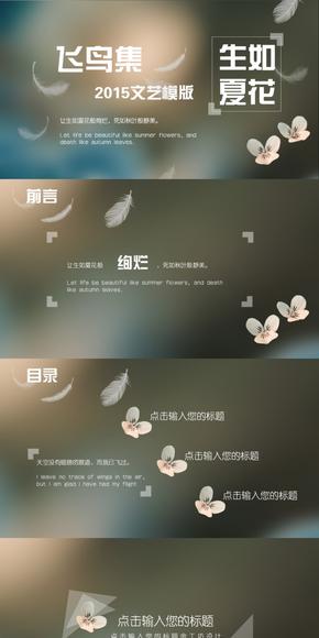 【绚烂】飞鸟集-2015文艺PPT模版