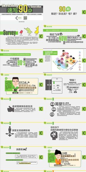 【演界网独家PPT】中国做的最好的调查报告PPT《速写90后》