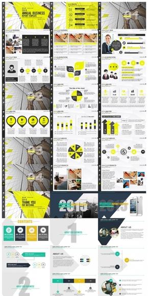 【PPT模板】120页4套动态热销商务年终汇报PPT模板合集包