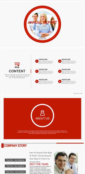 【Keynote模板】动态专业红色商务年终汇报Keynote模板3