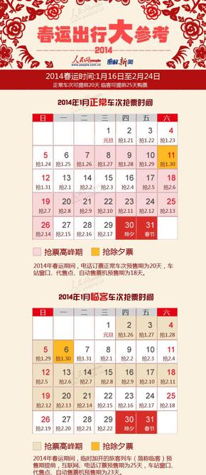 【演界信息图表】中国风-2014春运出行大参考 抢票攻略早知道