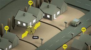 【演界信息图表】白灰黄红-3D立体房屋建筑
