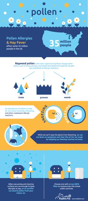 【演界网独家信息图表】扁平化-如何减少花粉过敏