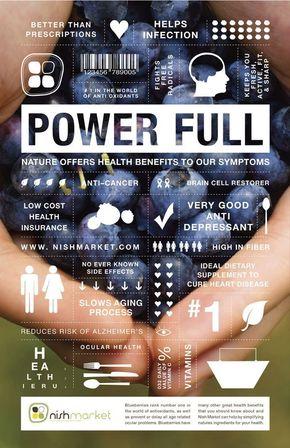 【演界信息图表】扁平杂志风-益处多多的蓝莓