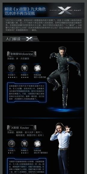 [演界信息图表]黑色科技风-解读X战警9大人物
