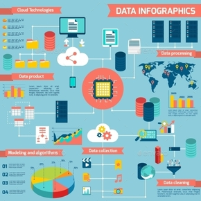 【演界信息图表】多彩扁平-金融数据信息图表