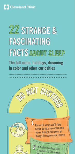 【演界信息图表】卡通风排版-22个惊呆你的睡眠结论