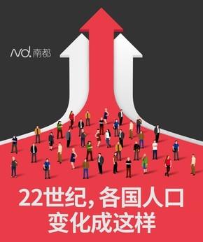 【演界信息图表】黑红+动图-22世纪,各国人口变化成这样