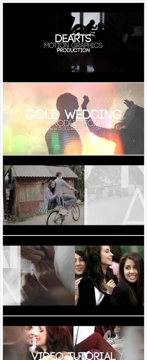 婚礼视频快剪AE模板(代渲染)