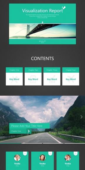 【极简主义】UI设计汇报模板-三种配色