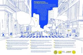 【演界信息图表】手绘建筑-重塑洛杉矶市中心第七街