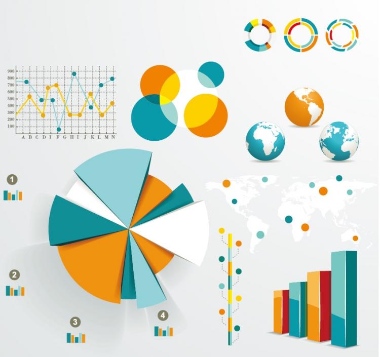【设计师ppt素材】【演界信息图表】信息图形和图表的