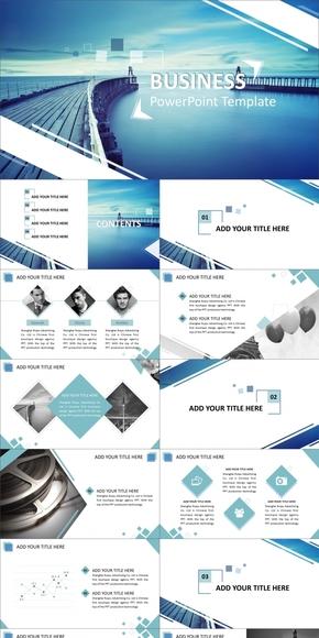 欧美高端系列商务动感模板【卓越之门】[3套配色/800图标]--|By Haifeng|