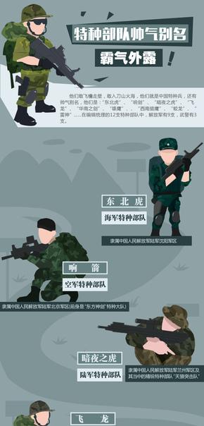 【演界信息图表】海报风-霸气外露的中国特种部队