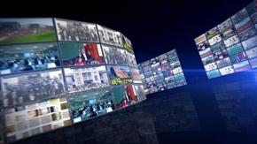 3D效果的电视屏幕墙AE模板