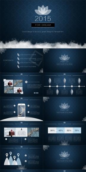 欧美高端系列商务模板【FOR DREAM】[4套配色/800图标]--|By Haifeng|