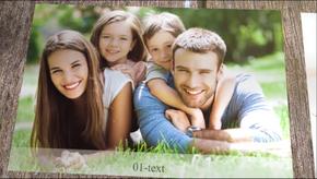 温馨木板上的欢乐时光AE相册(代渲染)
