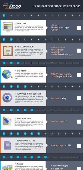 21【演界信息图表】科技简约--一图了解搜索引擎优化清单