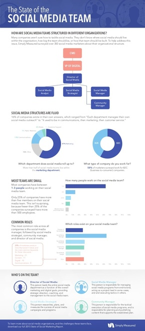 【演界信息图表】简约风-社交媒体团队的现状