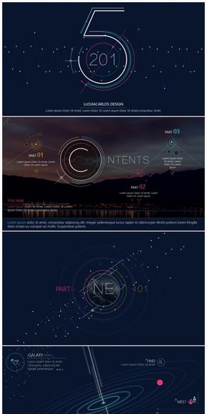2016年终总结计划工作汇报发布会演示模板-《LINE》-2017商务互联网大气介绍宣传