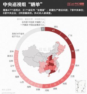 【演界信息图表】扁平化- 哪个省份巡视问题最多