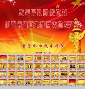 职业学院党建工作总结ppt模板