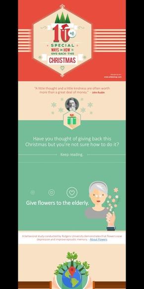 【演界网独家PPT】圣诞节回礼的10+种方法-欧美卡通扁平长阴影风格PPT