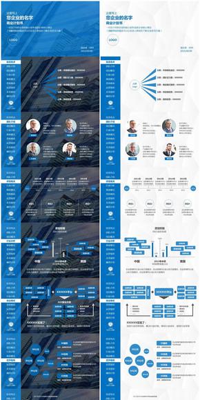 创业/商业融资计划书PPT模板(双版本)