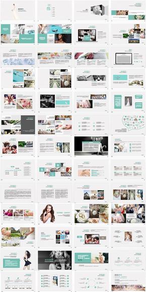 极致美丽婚庆奢侈品婚纱摄影珠宝艺术类PPT模板-商业计划书-163页
