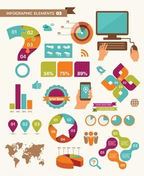 【演界信息图表】炫酷多彩 -信息图表的元素