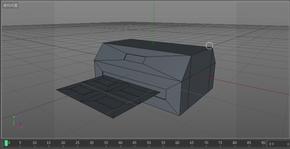 每日模型00002-打印机-打印纸  (注意:c4d文件ae可用)