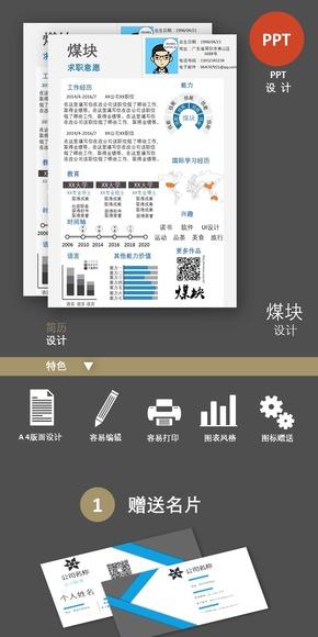 个人简历可编辑信息图表022(购买请咨询,否则后果自负)