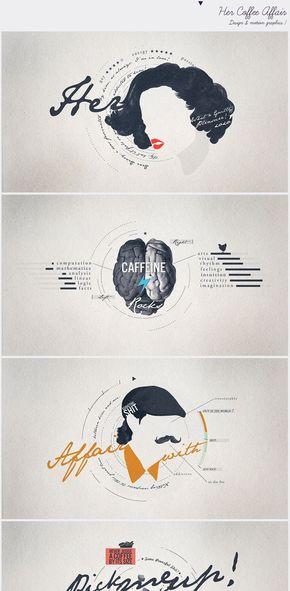 【演界信息图表】灰底钢笔绘制-男人女人咖啡