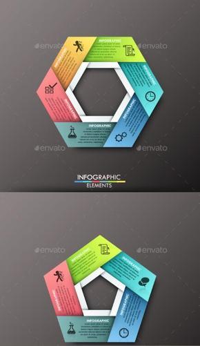 【演界信息图表】微立体-商务图表