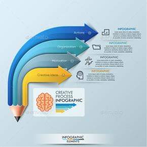 【演界信息图表】精美图表-现代铅笔概念图表