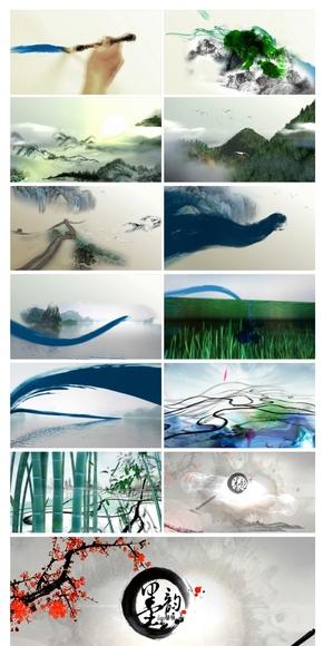 水墨动画开场中国风PPT通用设计