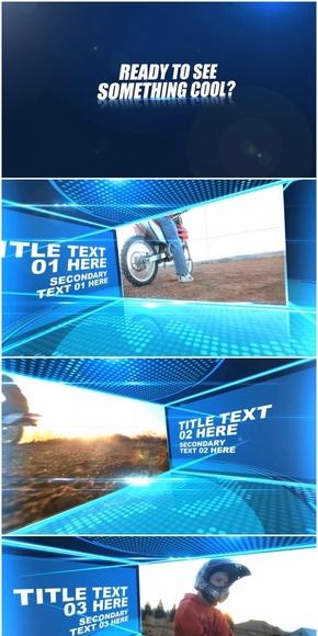 科技感十足的图片展示AE模板(代渲染)