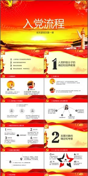 【黨政01】入黨流程黨支部培訓(發展黨員最新2014年版)