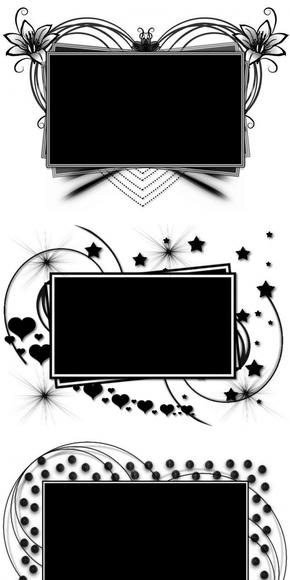 【图片分享计划】ps矩形花纹蒙版 黑白色矩形花纹相框素材